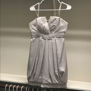 BCBG Strapless Ivory Cocktail Dress